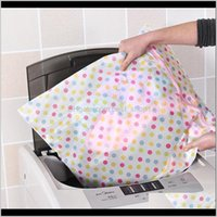 Bolsos de lencería de 5060 cm Imprimir Lavado de ropa Cuidado de la ropa Hine Lavandería Sujetador Malla Net Wash Bag Basket DH09622 VTJVE 5W7GO