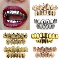 18k vrais appareils d'or punk hip hop dents grill