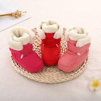 Мать дети детские туфли первые ходунки унисекс зимние теплые ботинки для младенческого младенца искусственного меха внутренних снежных ботинок малышей предыдущая буксировка 1316 y2