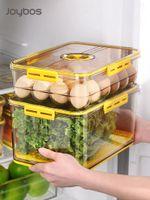 Storage Bottles & Jars Joybos Food Container PET Seal StableCans For Kitchen Fridge High-capacity Fresh Eggs Vegetable Fruit Box JX93