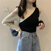 Women's Sweaters Sexy Slim Woman Korean Style Fashion Winter Pullover Pull Femme Clothing DB60MY