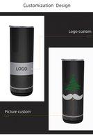 Sublimation Straight Speaker Tumbler 500ml Smart Music Cup Stainless Steel Vacuum Coffee Mug Wireless Tumblers