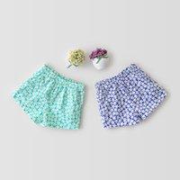 ZHBB INS Korean Baby Girls Floral Shorts Newborn Summer Toddler Clothes for 0-2T