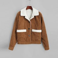 Jackets For Women Basic Lapel Suede Buckle Cool Faux Lamb Wool Cazadoras De Mujer Ladies And Coats Winter Women's
