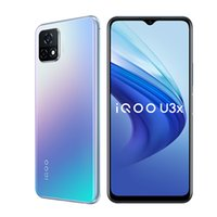 Original vivo iqoo u3x 5g Handy 4 GB RAM 128 GB ROM Snapdragon 480 Octa Kern Android 6,58 Zoll Vollbild 13.0mp 5000mAh Fingerabdruck ID FACE WACK SMART Mobiltelefon