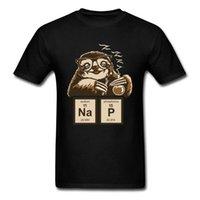 CCCCSportChemistry Professor Sloth Lustige Vintage T-shirt Chemische Element Periodensystem Nette Grafik Neues T-Shirt für Männer Custom Geschenk
