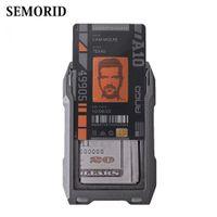 SEMORID RFID Metal Credit Card Holder Unique Wallet Man Business Badge Holder Small Aviator Minimalist Wallet for Gift Tarjetero