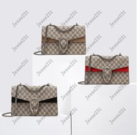 Hohe Qualität Klassische Frauen Dame Flap Kette Mode Taschen Leder Crossbody Handtaschen Geldbörsen Rucksack Tote Umhängetasche Geldbörse Brieftasche 28cm