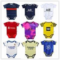2021 2022 Gerçek Madrid 6 ila 18 Ay Bebek Kiti Bebek Futbol Formaları Kitleri 21 22 Babys Gömlek Jersey Özelleştirilmiş Futbol Üniformaları