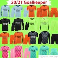 Adult kit Real Madrid 20 21 AC COURTOIS LENO MILAN DONNARUMMA 2020 2021 goalkeeper Soccer Jerseys man suit Football shirt top uniform mens set Uniform