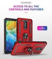 Hybrid Armor Kickstand Coque Téléphone pour LG Stylo 6 Aristo2 Aristo3 Aristo 4 Plus LV3 2018 K10 2018 K40 K12 Plus K30 2019 Q60 K50S Housse de dos Pop