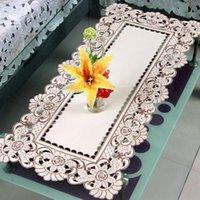 Serwetka stołowa Kwiatowe szydełko Krzesło Pokrywa Beżowe Koronki Nakładki Projekt Dressers Końcówki Th
