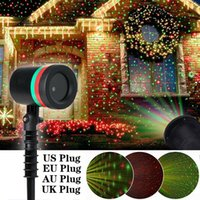 Party Decoration Moving Full Sky Star Laser Projector Landscape Lighting Red&Green Christmas LED Stage Light Outdoor Garden Lawn Lamp