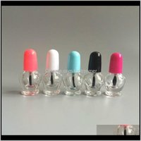 Per Bottle Cute L Empty Clear Glass Nail Polish Oil Bottles In Refillable Colors Cap With Brush Cosmetic Packaging Fast Ewyn8 Hq61M