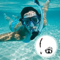 Diving Masks 3pcs Goggles Breathing Tube PVC Adjustable Practical Glass Lens With Underwater Snorkel Wide View Swimming Mask
