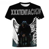 Męskie damskie XXXTACON SOICE WLD 3D Print Koszulka z krótkim rękawem Casual Hip Hop Streetwear Wentylacja Koszulki