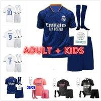 20 21 22 Real Madrid Soccer Jerseys 2021 2022 Hazard Zidane Benzema Fußball Hemd Camiseta de Futbol Erwachsene Kinder Kit Sets