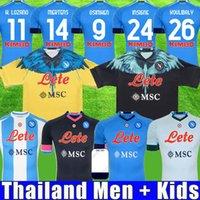 20 21 22 Napoli Soccer Jersey Maradona Maglietta da Calciaore Osimhen Badge 2021 SSC Naples Kits Maglia Mertens Masculino Kids Soccer Shirt