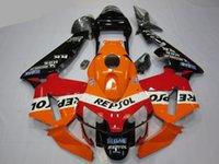 4 Free Gifts Injection molding New ABS fairings set Fit for HONDA CBR600RR F5 2003 2004 CBR 600 RR 03 04 custom fairing kit Red Orange Black 100% High quality