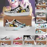 2021 DIY Zapatillas de funcionamiento de DIY Anime 3D Pintado Diseño de dibujos animados Entrenadores juveniles para mujer Para mujer Personalizadas Personalizadas Zapatillas de deporte con caja 36-46