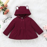 Baby Hooded Plain Coats Fall Winter Children Boutique Clothing 0-2T Infant Toddlers Girls Long Sleeves Warm Outerwear Jackets