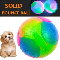 Cute Pet Hot Selling High Elasticity Dog Toy Ball Small Dog Teddy Pet Ball Glow Bouncing Ball