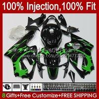 OEM Injection mold Bodywork For KAWASAKI NINJA ZX1200 C ZX1200C ZX 12 R 1200 CC 2000 2001 Body 2No.107 ZX 1200 12R 1200CC ZX-12R 00-01 ZX12R 00 01 Fairing Kit green black