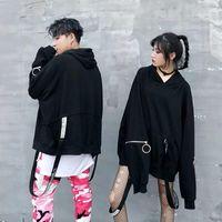 Women's Hoodies & Sweatshirts Women Korean Fashion Hoodie Oversized Streetwear Hip Hop Couple Long Sleeve Black 2021 Pullovers Tops Loose