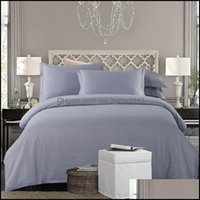 Bedding Supplies Textiles Home & Gardenbedding Sets Cotton White Grey Nordic Set Twin Fl Queen King Size El Duvet Er Bed Bed Fitted Sheet Pa