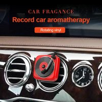 Car Air Freshener Vent Outlet Clip Vintage Phonograph Essential Oil Diffuser Smell Freshner Perfume Record Player