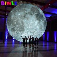 رمادي العملاق بارك يارد الإضاءة نفخ القمر بالون، شنقا / تأريض أقمار كوكب الكرة لمهرجان الديكور