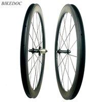 Bike-Räder Bikedoc 700CFull-Kohlenstoffrad 50mm Gerade Zug Powerway R51 Hub Road