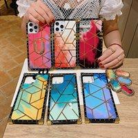 Üst Moda Telefon Kılıfları Lüks Kare Klasik Yumuşak Tasarımcı iphone 12 11 Pro Max XR XS Samsung S8 S9 S10 Artı S10E Not 8 9 Destek Getir