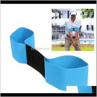 Sports & Outdoors Drop Delivery 2021 Golf Eginner Practicing Guide Gesture Alignment Training Aid Aids Correct Swing Trainer Elastic Arm Band
