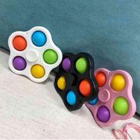ABD stok kordon fidget basit gamalı oyuncaklar kabarcık anahtarlık itme dönücü kurulu stres kabartma dekompresyon parmak kabarcıkları dnastress topları
