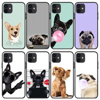Pinched Face Husky French Pitbull Cell Phone Cases For Iphone 13 mini 12 Pro Max Xr X 7 8 Plustransparent Clear Tpu Back Pc Case