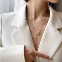 Chains Small Waist Opal Necklace For Women Girls In 2021 Light Luxury Niche Clavicle Chain Ins Cold Style Fashion Pendant
