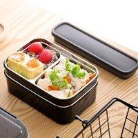 Tuuth Sets Tuuth Lunch Caixa de Aço Inoxidável Camada Dupla Container BPA Free Portable para crianças Picnic School Bento