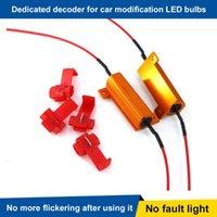 Car Headlights 4pcs 50W 6ohm Load Resistor LED Turn Signal Light Blink Error Decorder Bulbs Free Code Solution