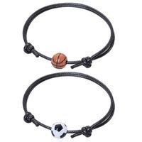 Chegada Creative Ball Série Pulseiras para homens e mulheres Basquete, futebol, vôlei, tênis, presentes de beisebol charme