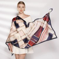 Scarves Hijab Women Chiffon Silk Sunscreen Scarf Beach Towel Gradients Wholesale Large Size Face Shield Bandana