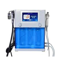Popular 4 In 1 Diamond Hydrodermabrasion Oxygen Jet Peel Hydrafacial Oxgen Injector Spray Ultrasonic Skin Scrubber For Spa Salon Use