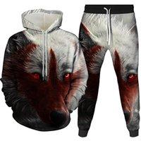 Men's Tracksuits Winter Warm Women Men Animal Graphic 3D Wolf Print Hoodie Hooded Long Sleeve Sweatshirt Pullover Tops Costume Clothing