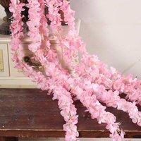 Pcs Rattan Strip Wisteria Artificial Flower Vine For Wedding DIY Craft Home Party Kids Room Decoration DSD666 Decorative Flowers & Wreaths