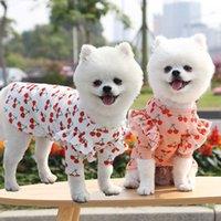 Primavera Summer Dog Gonna Cute Dog Camicia Dog Abiti Cherry Print Ant Coat per Teddy Bichon XS-2XL
