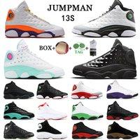 Avec chaussettes gratuites Jumpman Hommes Chaussures de basketball Bonne Qualité 13 Bred Altitude Chicago Flint Atmosphère Olive Green Green Toe Courir 13S Melo Sneakers EUR 40-47
