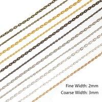 5m / lot Halskette Armbänder Metallketten Antike Bronze Überzogene Masse für DIY Schmuck Fundungen Materialbedarf Großhandel