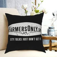 Agriculteurs seulement (logo blanc) Jetez des oreillers de couverture d'oreillers décoratifs pour salon génial oreiller coussin à la maison coussin / décoratif