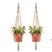 شماعات مصنع مكرر حبل الأواني حامل حبل الجدار شنقا الغراس شنقا سلة حاملي نباتات داخلي زهور سلة رفع AHA4980