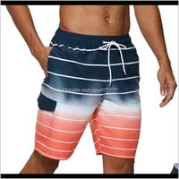 Mens Equipment Water Sports & Outdoors Drop Delivery 2021 Swimming Beach Shorts Men Swimwear Quick Dry Swimsuit Swim Trunks Beachwear Bathing